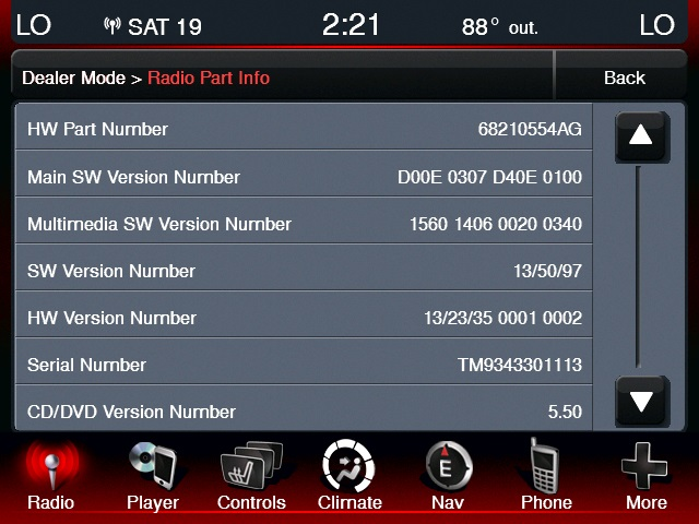HOW TO: Dealer Mode on UConnect 8 4 | Charger Forums