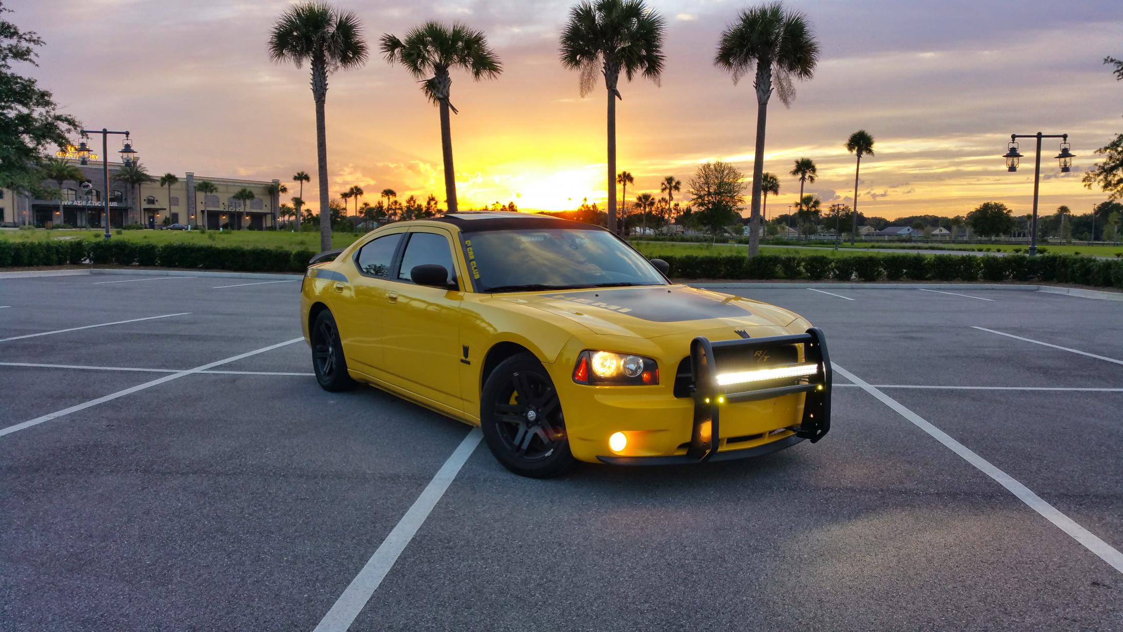 Led lightbar on front dodge charger forums its been done mozeypictures Image collections