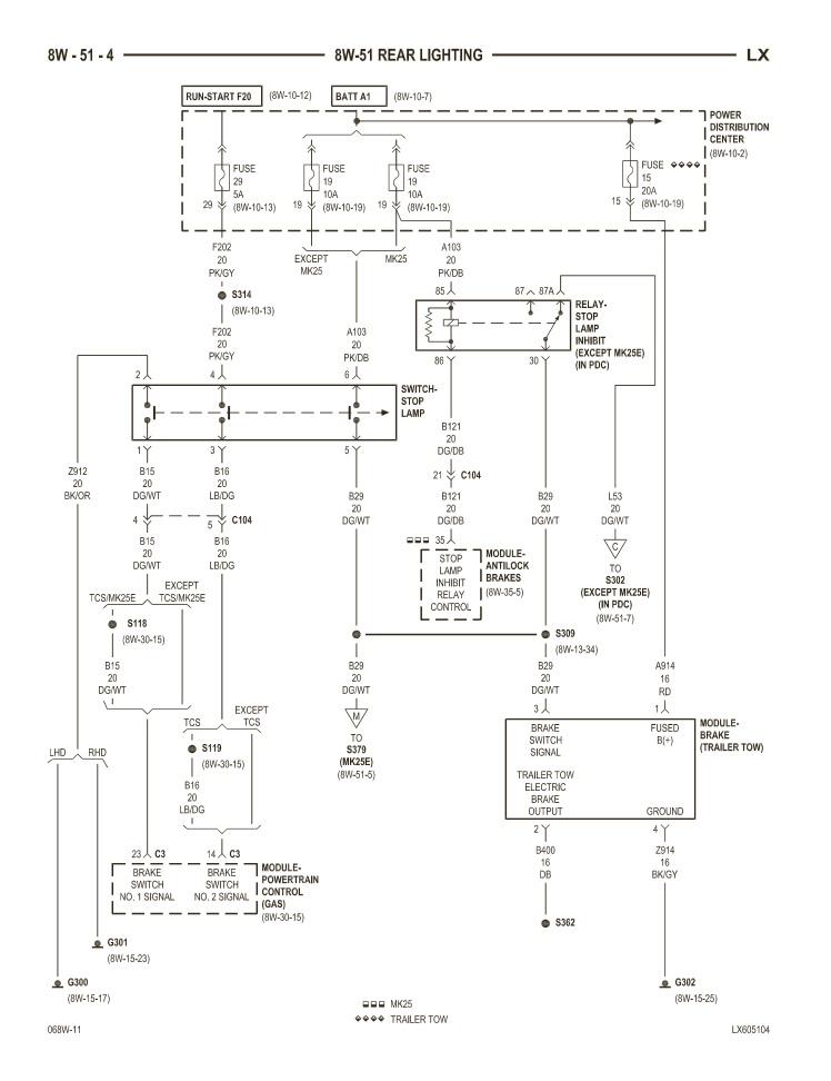 2014 dodge ram brake light diagram html