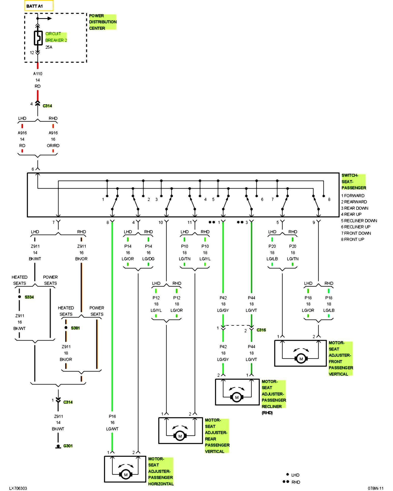 [SCHEMATICS_48IU]  08 RT wiring for SRT8 seats | Charger Forums | 1966 Chrysler 300 Power Seat Wiring Diagram |  | Charger Forums