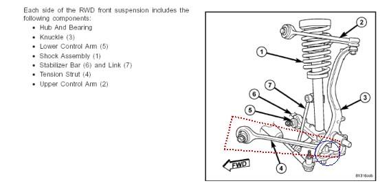 2006 dodge charger srt8 front suspension diagram