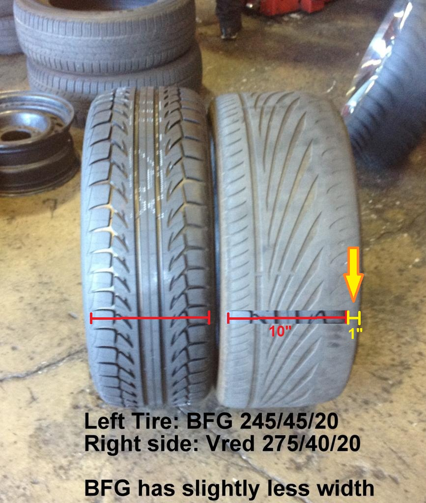 275 Tire Size >> Vred Vrs Bfg Comp 2 Tire Size Differences Dodge Charger Forums