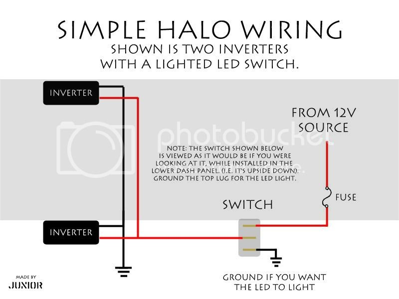 Halo Wiring - Basics, Specifics, and Examples. | Charger Forums on halo lights diagram, halo dimensions diagram, halo lighting, halo control diagram,
