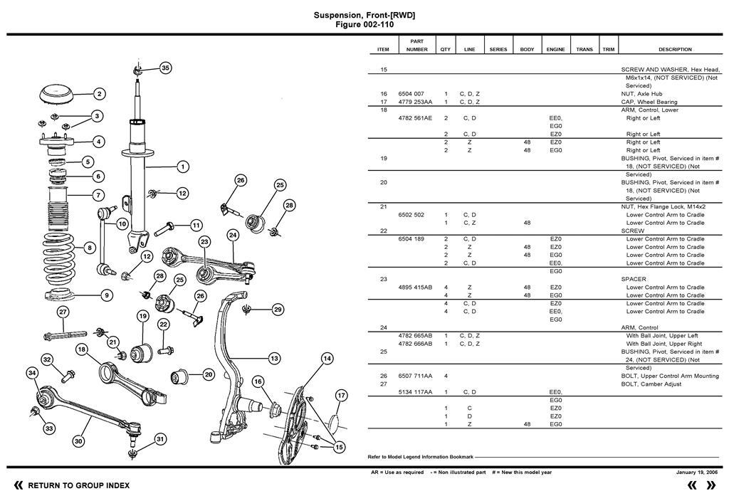 2006 Front Rearward Suspension Control Arm Bolt Removal